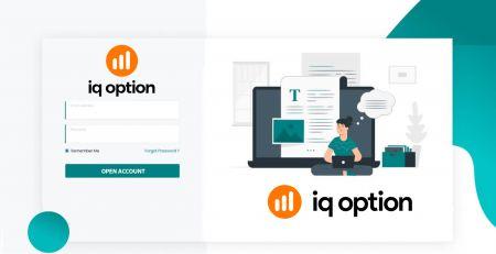 Cómo abrir una cuenta comercial y registrarse en IQ Option
