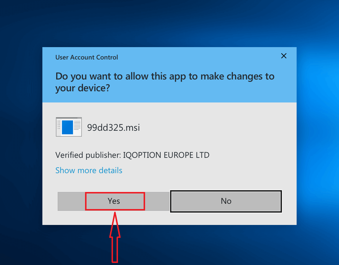 Cómo descargar e instalar la aplicación IQ Option para computadora portátil / PC (Windows, macOS)