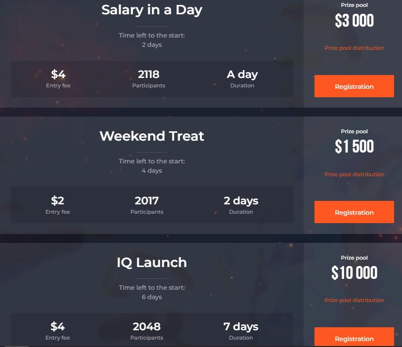 Torneos de trading de IQ Option - Hasta $ 50,000 en premios